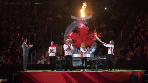 Red Deer Canada Games Torch Lighting